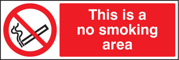 Picture of No smoking area