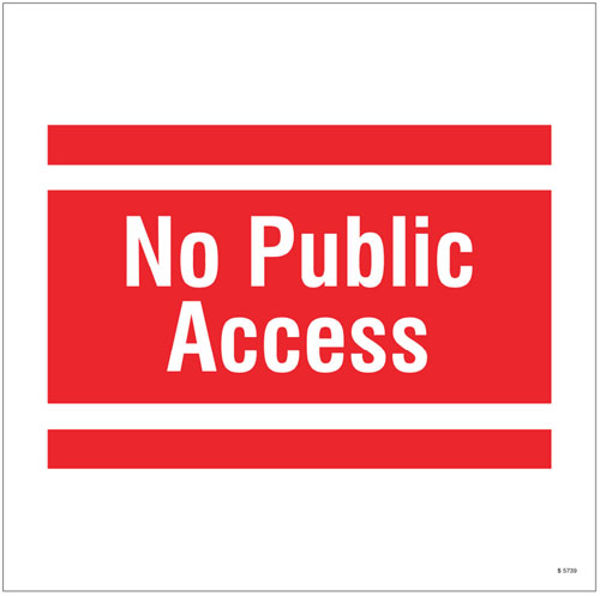 Picture of No public access, site saver sign 400x400mm