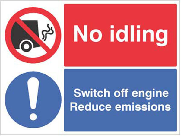 Picture of No idling, Switch off engine Reduce emissions