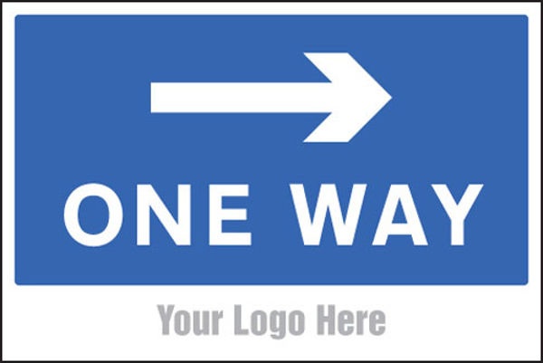 Picture of One way, arrow right, site saver sign 600x400mm
