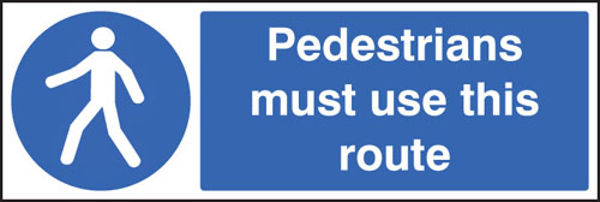 Picture of Pedestrians must use this route