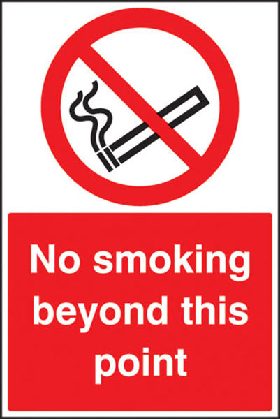Picture of No smoking beyond this point floor graphic 400x600mm