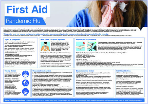 Picture of Pandemic Flu Poster 594x420mm