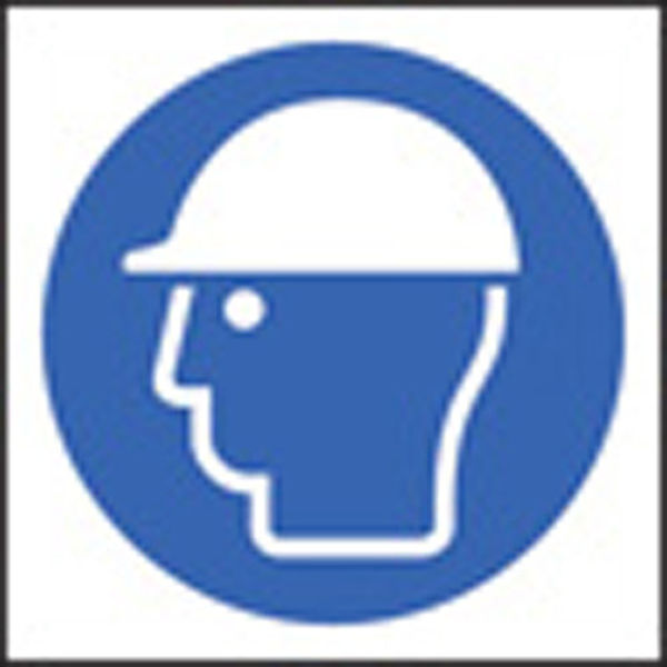 Picture of 100 S-A labels 50x50mm safety helmet