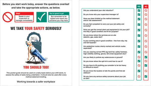 Picture of Pocket Guide Site safety induction (Pack of 10) 75x90mm