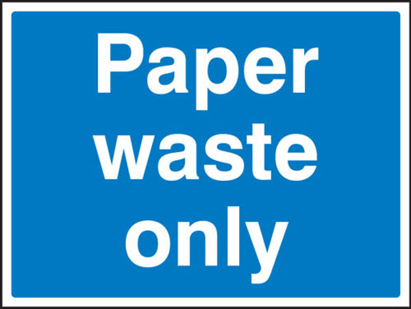 Picture of Paper waste only