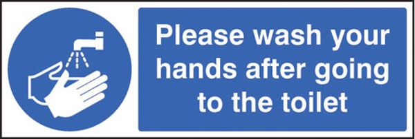 Picture of Please wash your hands after going to toilet