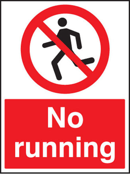 Picture of No running