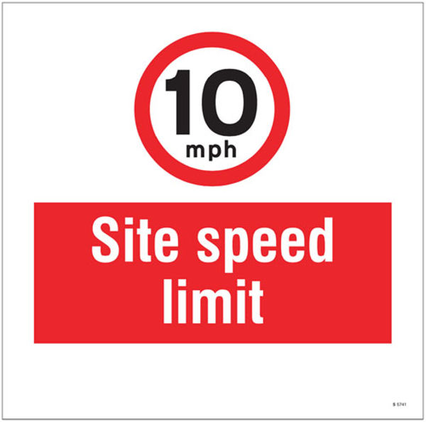 Picture of 10mph Site speed limit, site saver sign 400x400mm