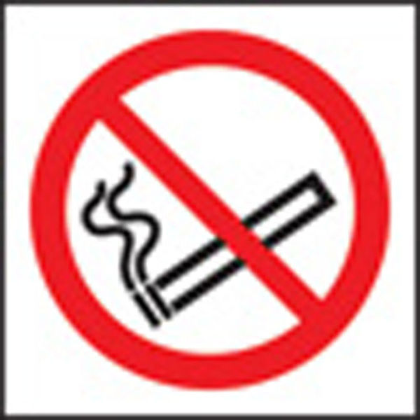 Picture of 100 S-A labels 50x50mm no smoking