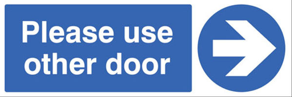 Picture of Please use other door >