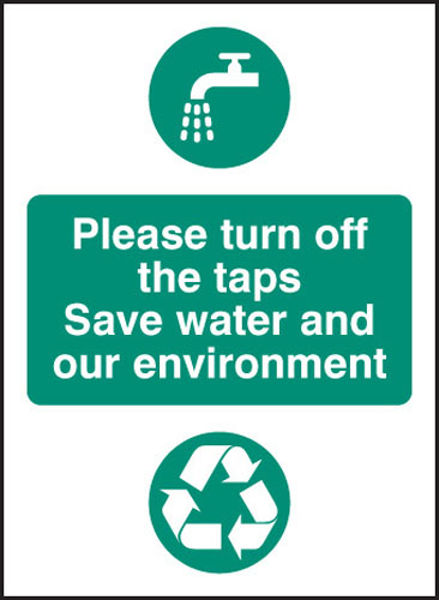 Picture of Please turn off the taps, save water and environment