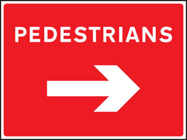 Picture of Pedestrians arrow right