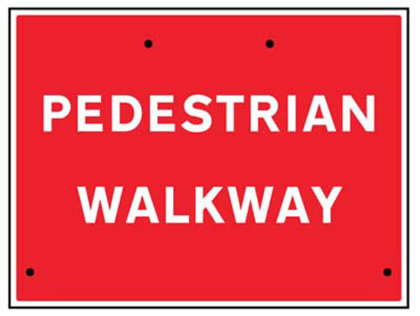 Picture of Pedestrian walkway, 600x450mm Re-Flex Sign (3mm reflective polypropylene)