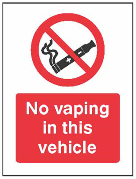 Picture of No vaping in this vehicle