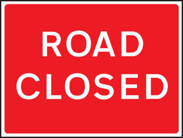 Picture of Road closed fold up 1050x750mm sign