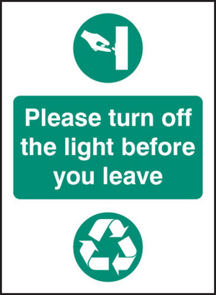 Picture of Please turn off light before you leave