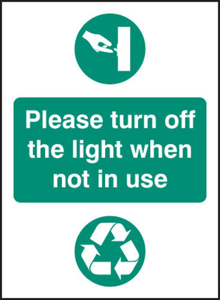 Picture of Please turn off light when not in use