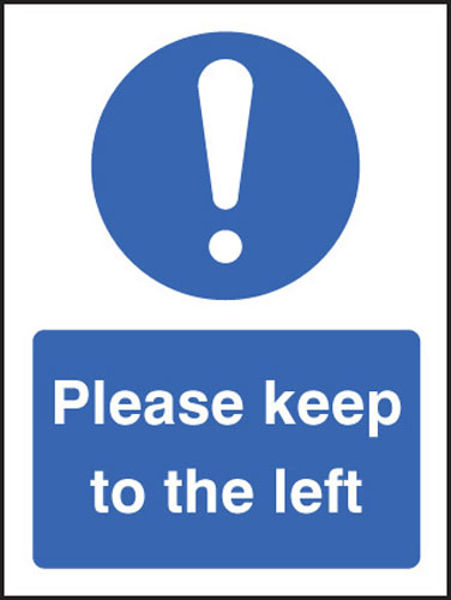 Picture of Please keep to the left