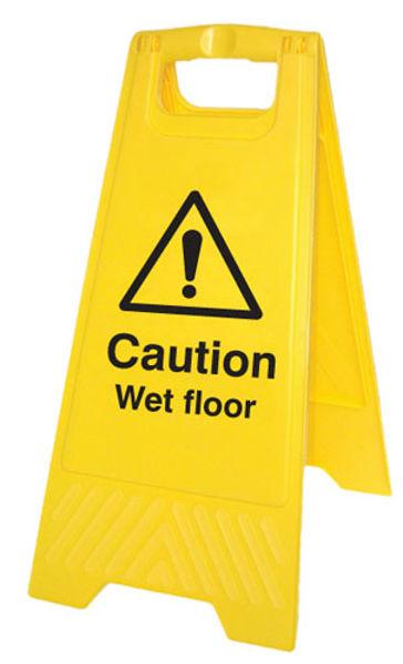 Picture of Caution wet floor (free-standing floor sign)