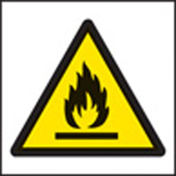 Picture of 100 S-A labels 50x50mm flammable