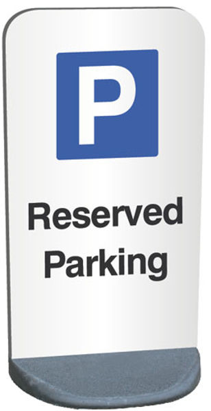Picture of Parking Reserved - Temporary sign 460 × 850mm panel (1.2mm aluminium) 9kg p