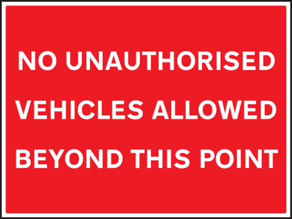 Picture of No unauthorised vehicles allowed beyond this point