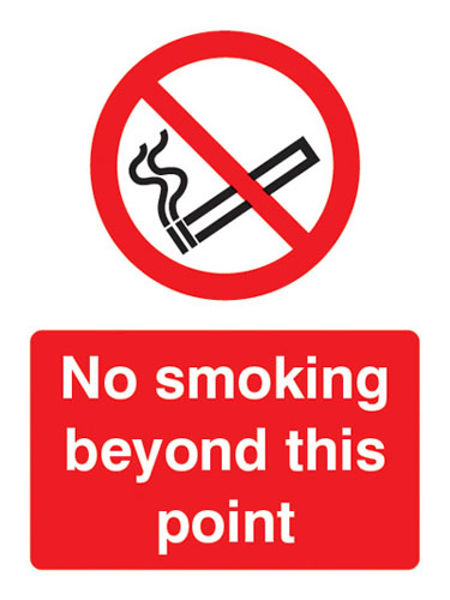 Picture of No smoking beyond this point