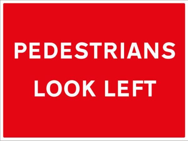 Picture of Pedestrians look left