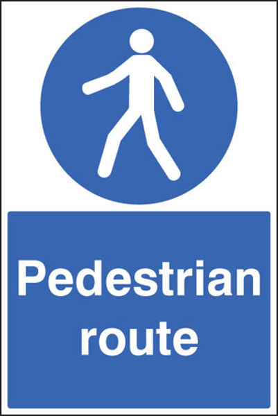 Picture of Pedestrian route floor graphic 400x600mm