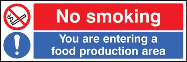 Picture of No smoking you are entering a food production area
