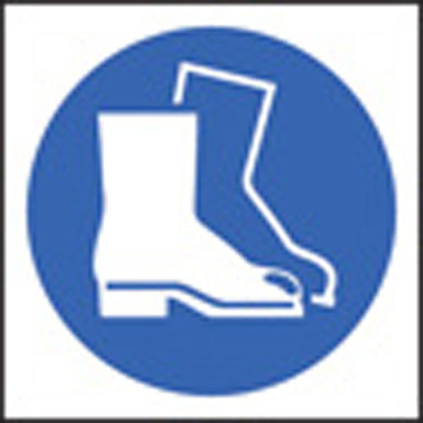 Picture of 100 S-A labels 50x50mm safety boots