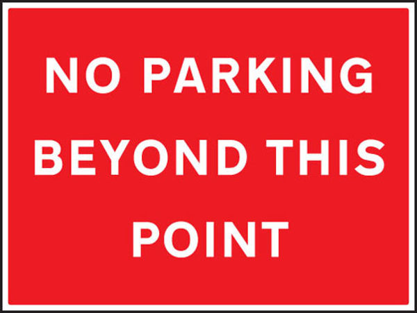 Picture of No parking beyond this point