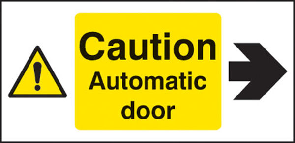 Picture of Caution automatic door right
