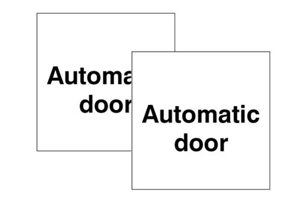 Picture of Automatic door Double sided self adhesive window sticker 150x150mm