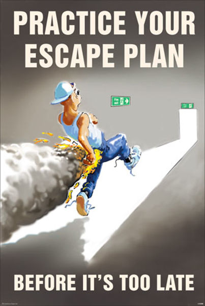 Picture of Practice your escape plan 510x760mm synthetic paper