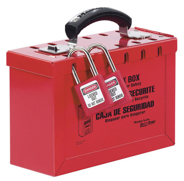 Picture of Portable Group Lockout Box, RED
