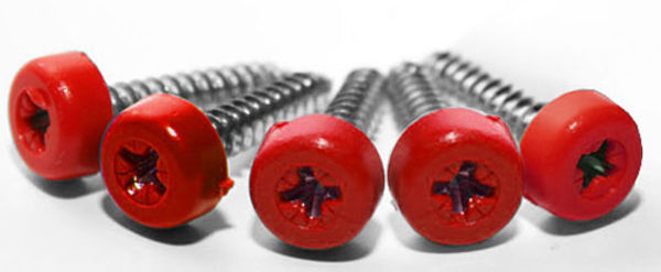 Picture of Poly top screws red (pack 12)