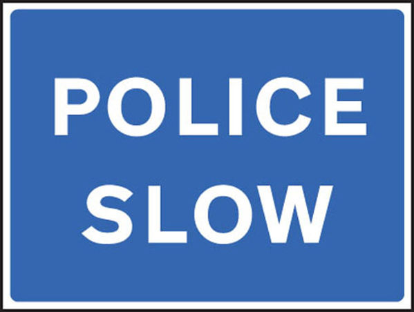 Picture of Police slow fold up 900x600mm sign