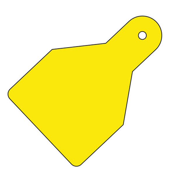 Picture of Plain ID Wide Flag Tags (Pack of 20) Yellow 100x65