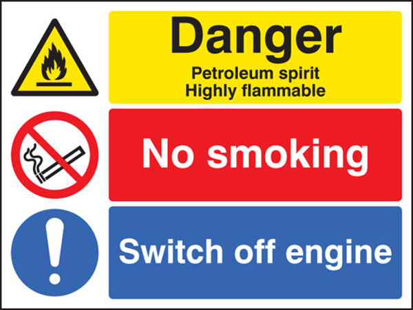 Picture of Petroleum spirit-no smoking-switch off engine
