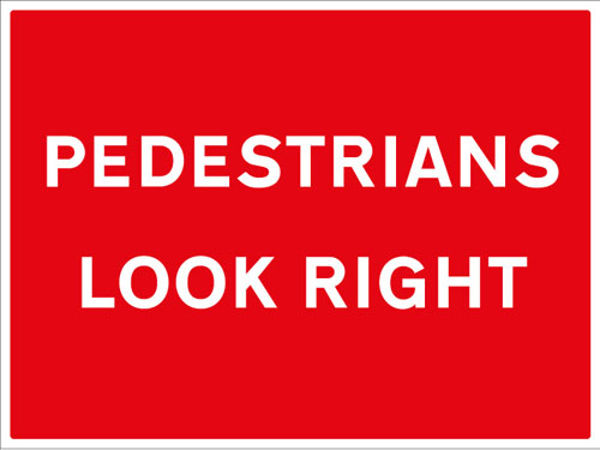 Picture of Pedestrians look right