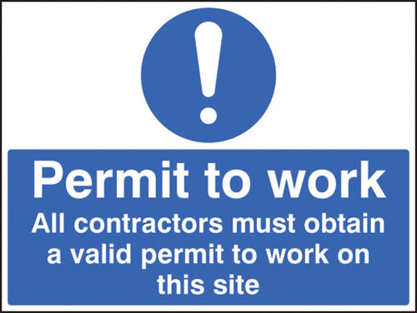 Picture of Permit to work all contractors must obtain a permit