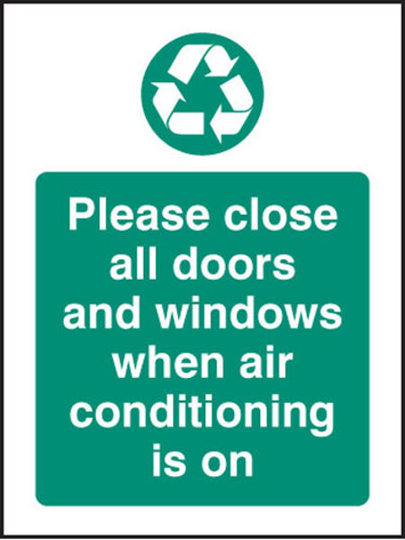 Picture of Please close all doors and windows when aircon is on