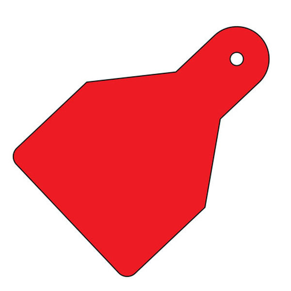 Picture of Plain ID Wide Flag Tags (Pack of 20) Red 100x65