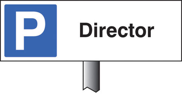 Picture of Parking director verge sign 450x150mm (post 800mm)