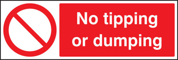 Picture of No tipping or dumping