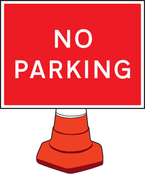 Picture of No parking cone sign 600x450mm