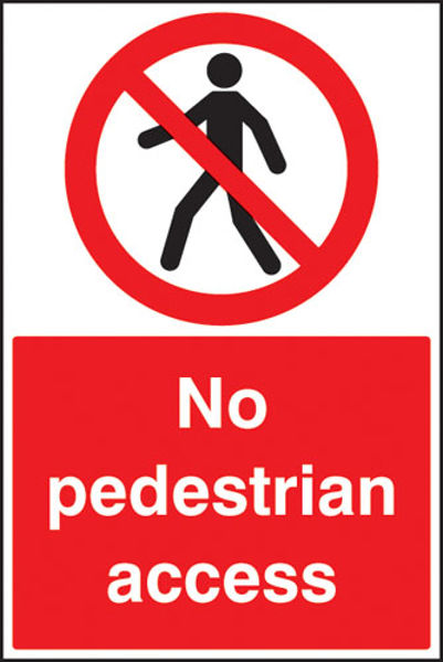 Picture of No pedestrian access floor graphic 400x600mm