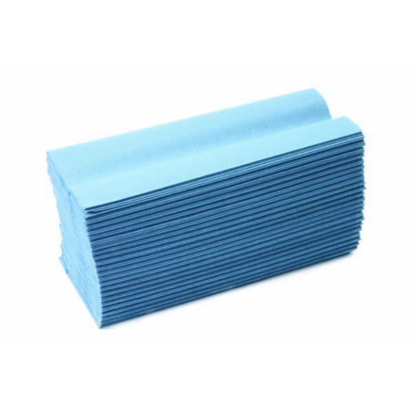 Picture of Embossed C-Fold Towel Blue (x10 sleeves)